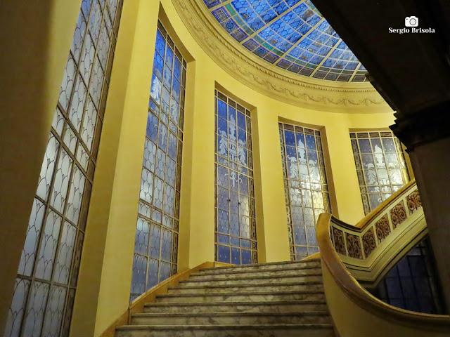 Vista de parte da Escadaria do Palácio da Justiça SP - Sé - São Paulo