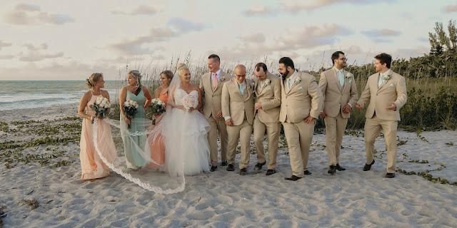 Captiva Island Wedding party on the beach