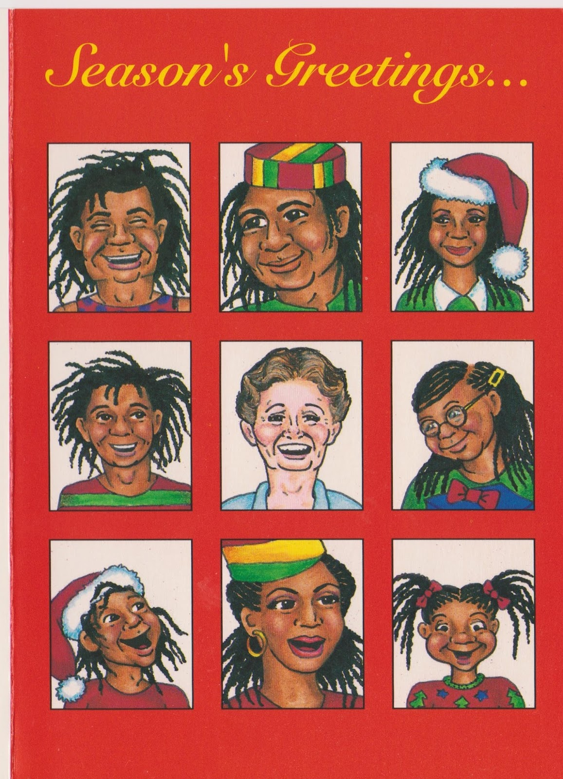 Brady Bunch Christmas Card.The Brady Bunch Blog Christmas Card Late 1980s