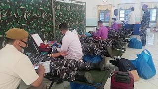 Korps Marinir TNI AL Gelar Donor Plasma Konvalescent