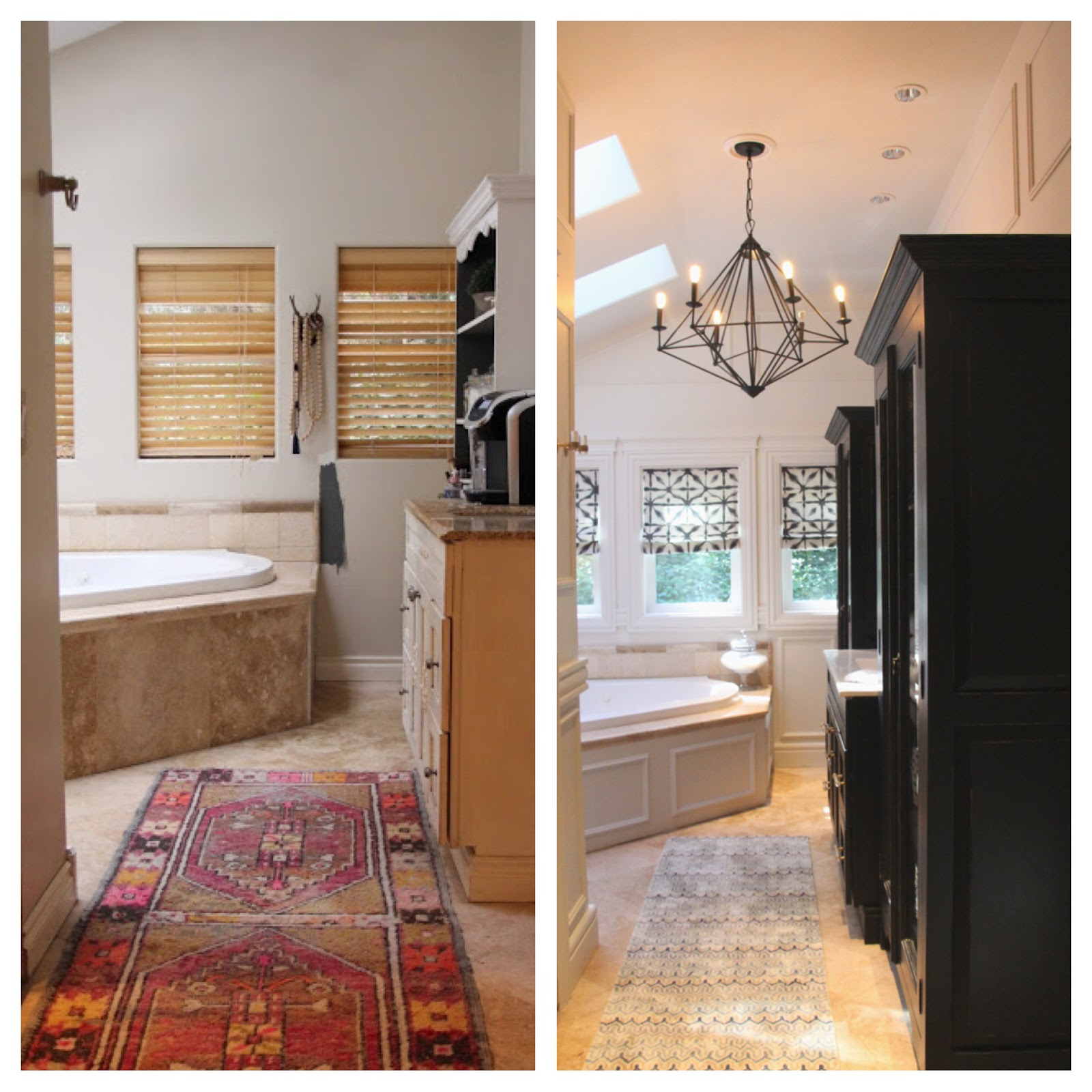 My sweet savannah painting interior doors black - One Of The Biggest Changes Was Taking Our Cottagey Vanity And Giving It A Modern Twist With Black Paint And New Hardware From Luxholdups