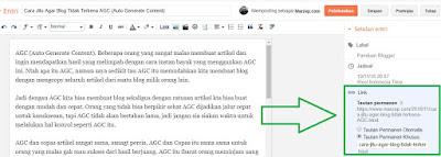 Cara Mengedit Permalink Di Blogspot