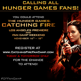 Register for your chance to attend the Catching Fire fan camp at the premiere in Los Angeles