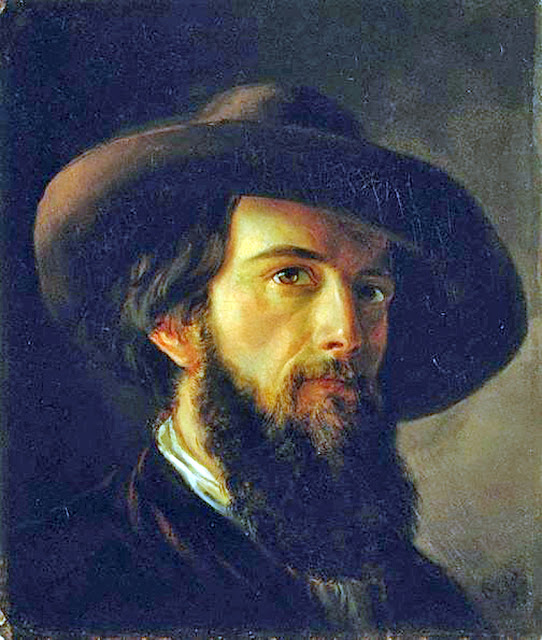 Nicholas Chevalie, Self Portrait, Portraits of Painters, Fine arts, Portraits of painters blog, Paintings of Nicholas Chevalie, Painter  Nicholas Chevalie