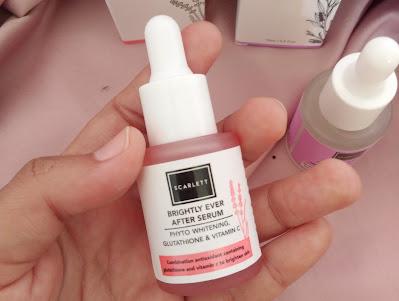 botol kaca pink transparan serum scarlett brightly