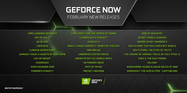 New Games Coming on Nvidia GeForce Now