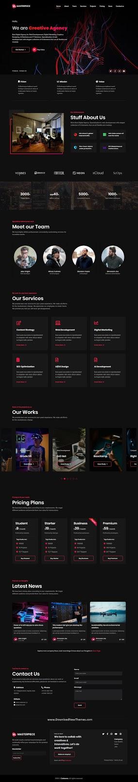 Creative Agency template