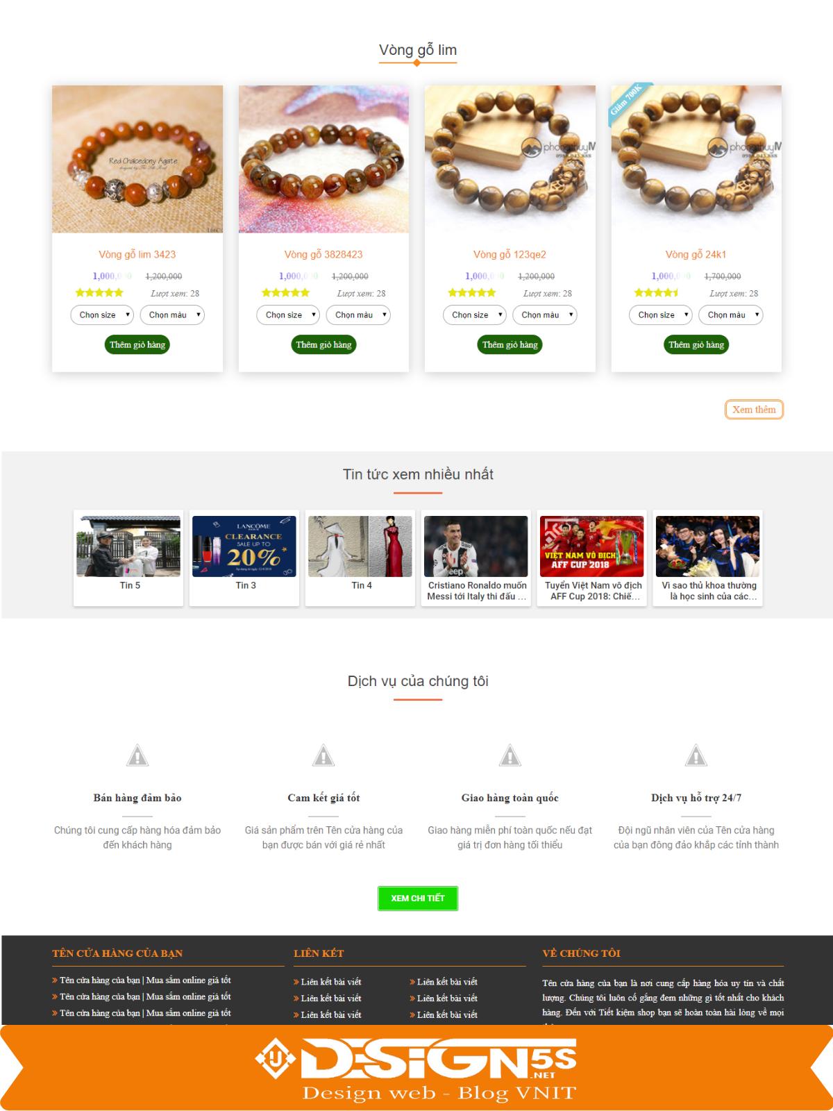 Mẫu Website Bán Đá Phong Thủy Chuyên Nghiệp - Ảnh 2