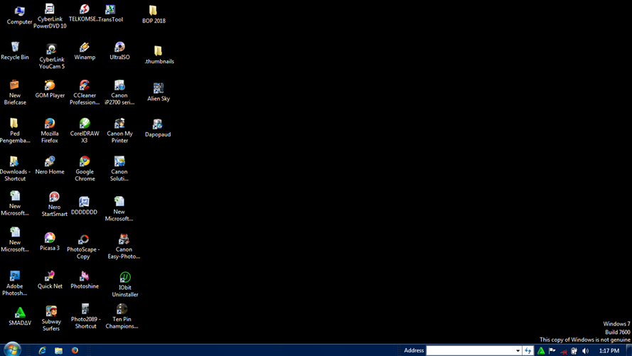 Mengatasi Layar Dekstop Windows 7 Blank Hitam