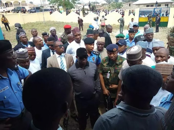 See Photos: Gunmen attacked a police station at Eika community in Okehi Local Government Area of Kogi state.