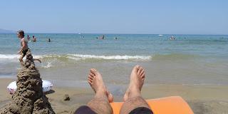 Relax en la playa de Içmeler.