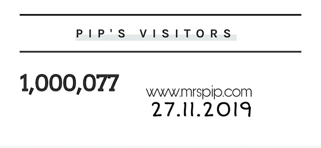 Blog capai 1 juta pageviews || 27.11.2019