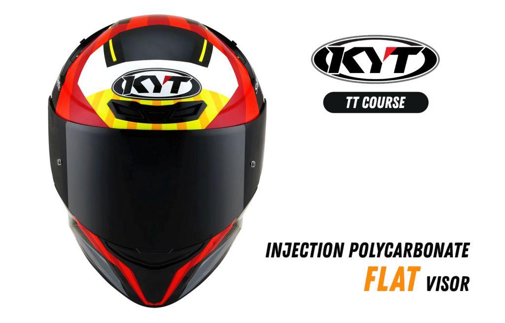 KYT TT Course Flat visor