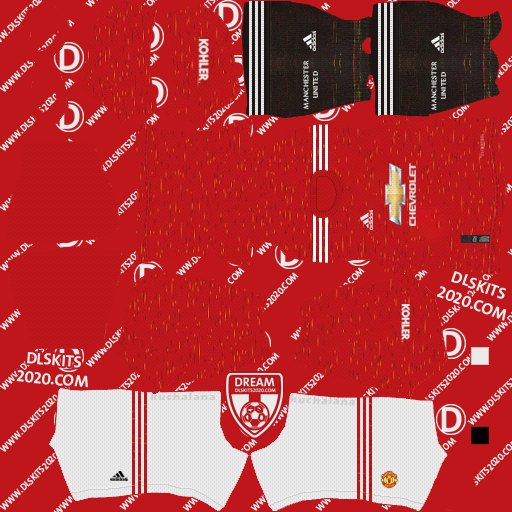 Manchester United Kits 2020-2021 Adidas For Dream League Soccer 2020 (Home)