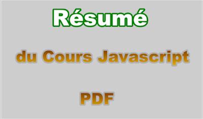 Résumé du Cours de Langage Javascript PDF.