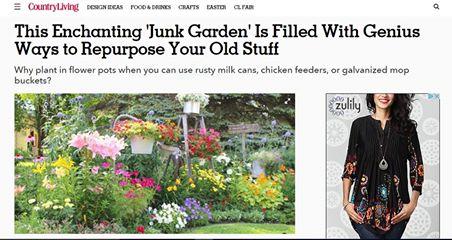 Junk Garden Tour Featured on Country Living Magazine Website