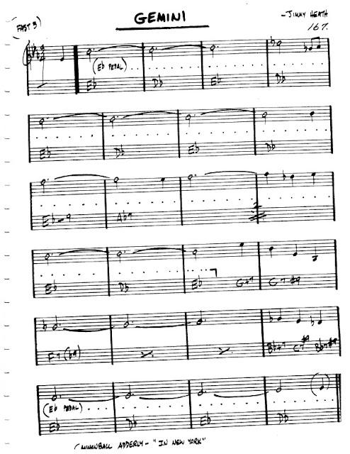 Partitura Violín Jimmy Heath