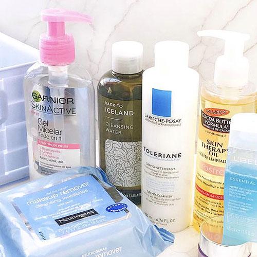Productos cosméticos desmaquillantes