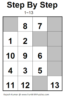 Step by Step (Mini Puzzles Series #14) Solution