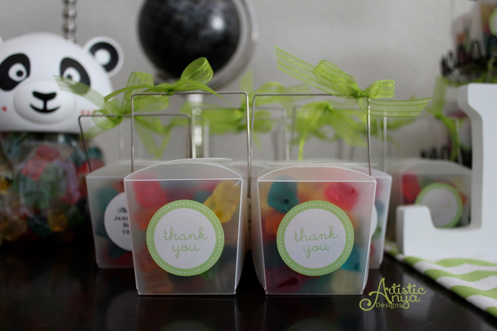 Clear Party Favor Boxes Michaels : Artistic anya designs ultimate panda party baby