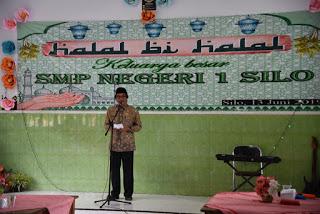 WAKIL BUPATI JEMBER : Halal Bi Halal Bersama Keluarga Besar  SMPN 1 SILO