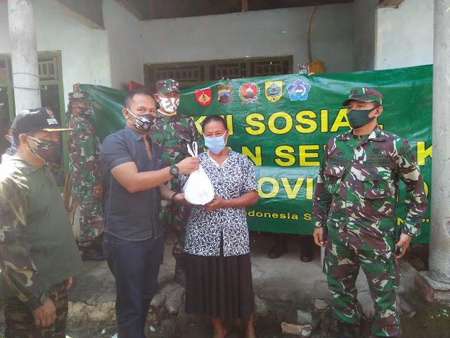 Dandim 0711/Pemalang Ikut Bakti Sosial Trabas TNI Di Desa Sikasur dan Mendelem