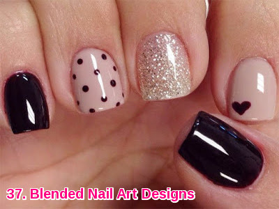 Blended Nail Art Designs