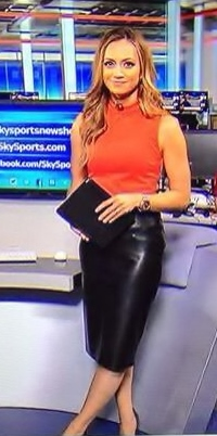 Lovely Ladies In Leather Kate Abdo In Leather