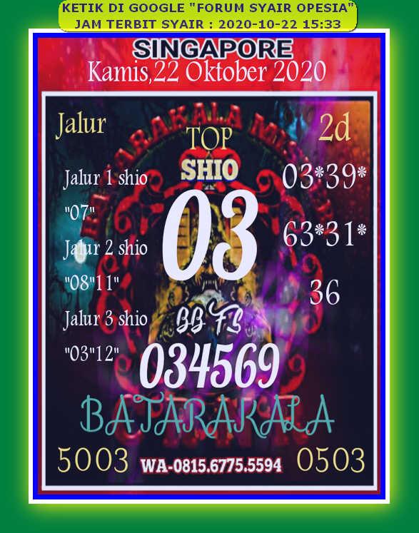 Kode syair Singapore Kamis 22 Oktober 2020 69