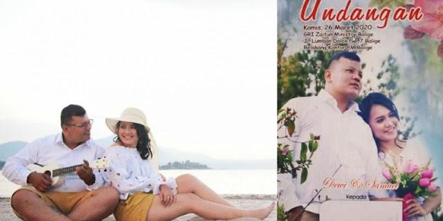 Undangan Sudah Beredar, Akibat Pandemi Corona Samuel Sianturi dan Dewi Sibarani Tunda Pernikahan