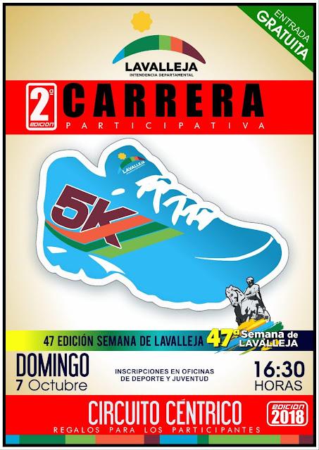 5k Semana de Lavalleja (gratuita, Minas, 07/oct/2018)