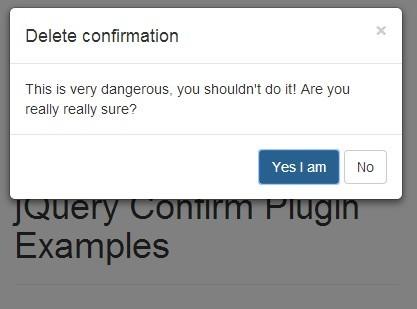 JavaScript Confirmation Modal using Bootstrap - Web