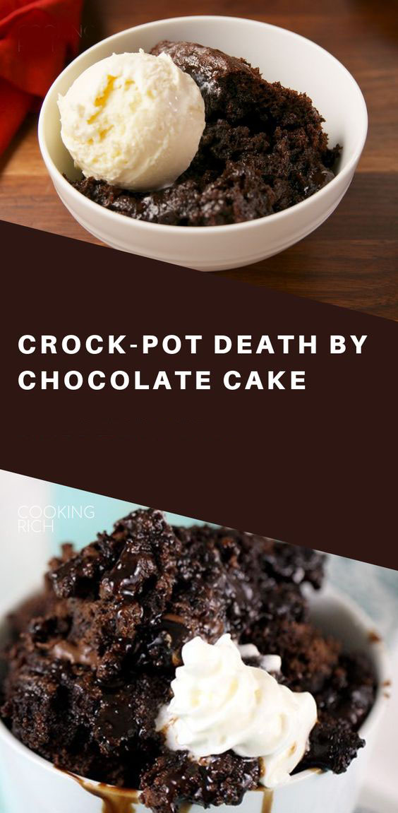 Crock Pot Death By Chocolate Cake
