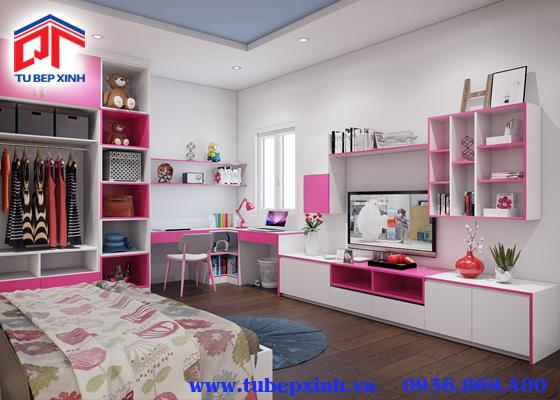 mẫu phòng ngủ màu hồng