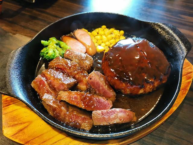 焼肉Rin みすじステーキハーフ&ハンバーグ