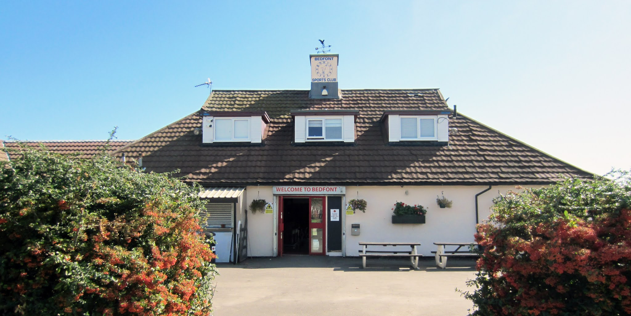 The clubhouse at Bedfont Sports Recreation Ground