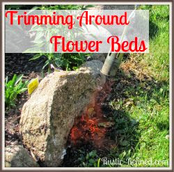 How to trim around flower beds