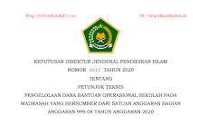 Juknis BOS TAMBAHAN MADRASAH TAHUN 2020