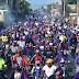 Miles de simpatizantes del PLD y partidos aliados participaron en una multitudinaria caravana en dajabon
