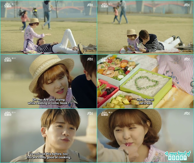bong soon and min hyuk picnic date - Strong Woman Do Bong Soon (Dates & Kisses) korean Drama