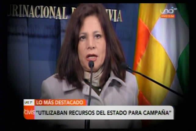 El Gobierno presenta querella contra Amanda Dávila por utilizar recursos del Estado en campaña política
