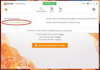 cara menjalankan program antivirus avast