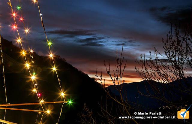 Luminarie natalizie a Curiglia