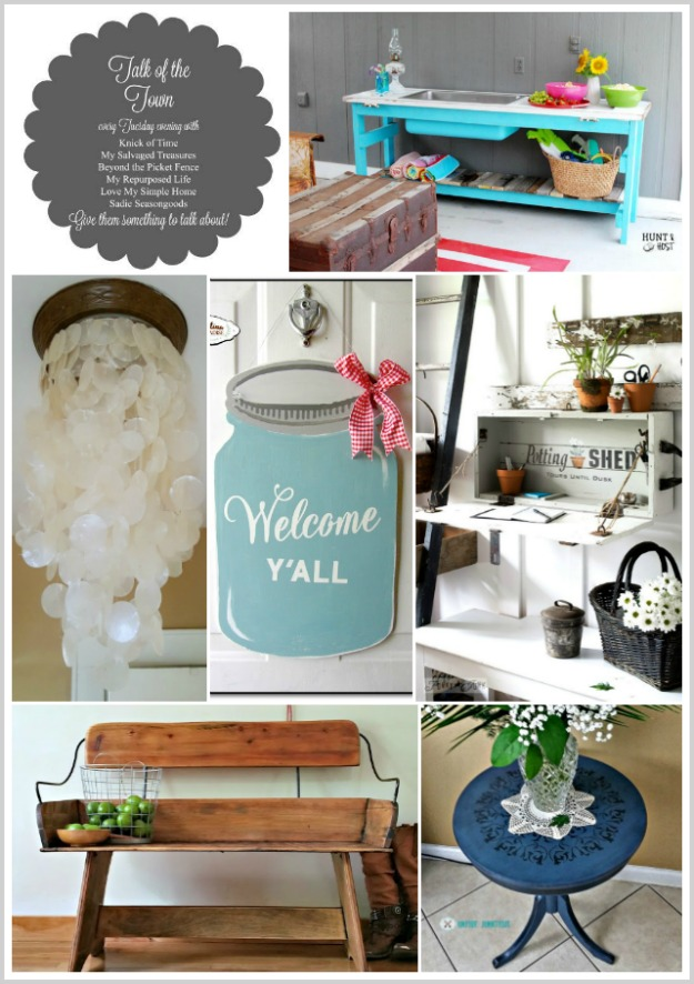 Talk of the Town features, DIY, home decor, repurposed