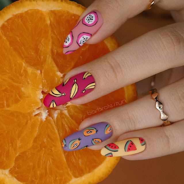 owocowe paznokcie