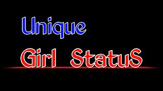 Unique girl status photo