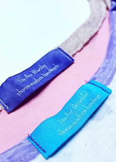 You Are Worthy, You Are Beautiful: Sharon Madsen Handmade labels