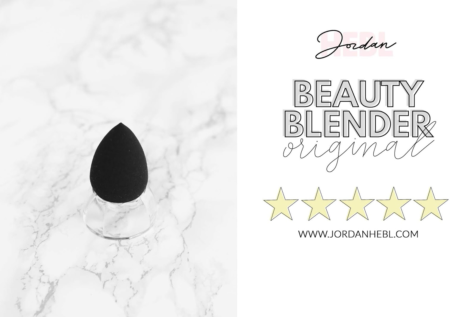 original beautyblender sponge, comparing makeup sponges, black beautyblender with marble background, beauty comparisons, beauty blogger