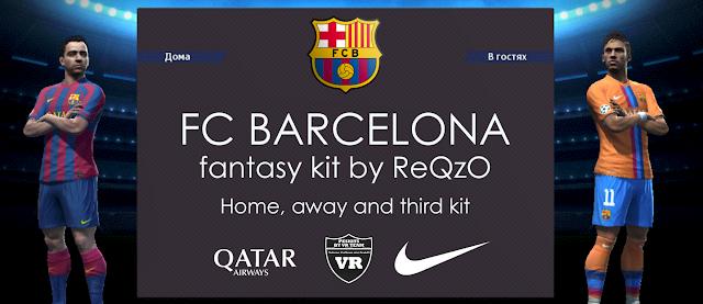 PES-MODIF: PES 2013 FC Barcelona Fantasy Kits By ReQzO