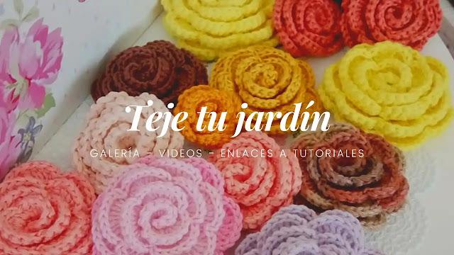 Teje Tu Jardín | Ideas y Tutoriales de Flores a Crochet